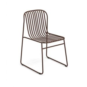 Riviera 434 stackable chair steel structure suitable for outdoor and contract use by Emu buy online on www.sedie.design